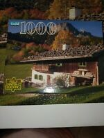 Vintage 1995 Guild 1000 Pc Jigsaw Puzzle Farmhouse Untersberg, Germany Complete