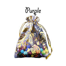 Large Rose Organza Gift Wedding Favour Bag Jewellery Pouch 10 Colours