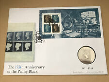 More details for 2015 penny black 175th anniversary minisheet medal coin cover fdc (no. 5226)