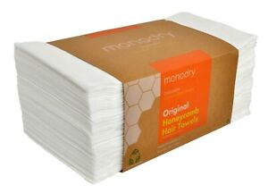 MonoDry Honeycomb DISPOSABLE Hair and Beauty TOWEL, 75gsm (Pack of 50)