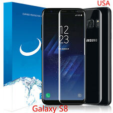 FOR SAMSUNG GALAXY S8 FULL CURVED CLEAR TEMPER GLASS PHONE SCREEN PROTECTOR