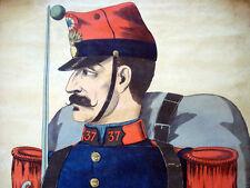 Vintage Imagerie Pellerin Infanterie Armee Francaise (c1860-1870) Inv1617