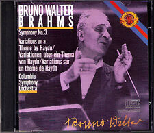 Bruno Walter: BRAHMS Symphony No. 3 HAYDN VARIATIONS CBS CD Symphonie Columbia