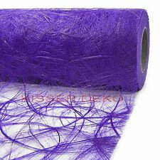 sizoweb 30 cm x 25m deco-mesa Camino de Mesa Banda De Mesa Boda Púrpura - 5350
