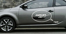 KOUP Racing Logo & Side Line Decal Sticker 2p For 09 10 11 12 Kia Forte Koup