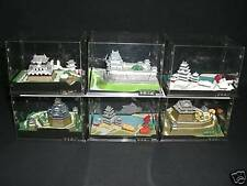 DOYUSHA MINIATURE CASTLE SERIES III WHOLE SET ( 6 CASTLES ) ASSEMBLED JAPAN