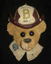 Boyds Bears ELLIOT...THE HERO - Fireman Wall Plaque