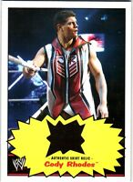 WWE Cody Rhodes 2012 Topps Heritage Authentic Event Worn Shirt Relic Card DWC