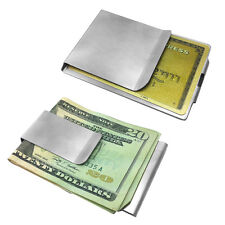2 Sided Stainless Steel Money Clip and Credit Card Holder