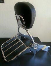 2point docking kit Backrest Sissy bar Flat Rack Harley Davidson Touring 09-13