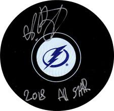 Andrei Vasilevskiy autographed signed NHL Tampa Bay Lightning puck inscribed