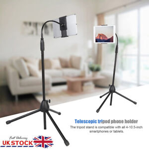 Universal Telescopic Tripod Floor Stand Holder For 4-10 Inch Mobile Phone Tablet