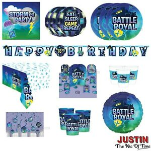BATTLE ROYALE Gaming Party Tableware Decorations Supplies Balloons Banners