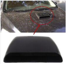 Black 3D Simulation Vehicle Air Flow Intake Hood Scoop Vent Bonnet Decor Sticker