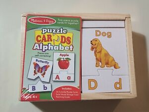 Melissa & Doug 26 Puzzle Cards in Wood Storage Case (Brand New & Sealed