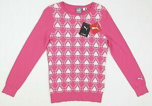 NEW! Women's Puma Evoknit Dassler Golf Sweater Carmine Rose Size Small $80