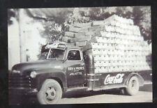 REAL PHOTO JOLIET QUEBEC COCA COLA DELIVERY TRUCK ADVERTISING POSTCARD COPY