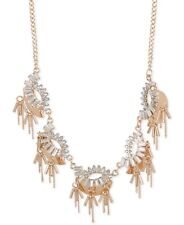 Inc International Concepts Rose Gold-Tone Crystal and Chain Statement Necklac.