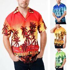 Mens Hawaiian Shirt Aloha Beach Party Surf Holiday Stag Dance Floral M-3XL
