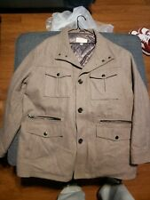 Michael Kors Wool Blend Double Breasted Peacoat Men Coat Size 3xb