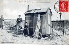 CPA 62 MERLIMONT PLAGE LA CABINE DE DOMINIQUE LE PECHEUR  (CPA ANIMEE)