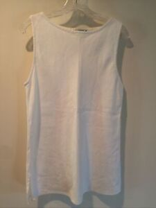 Cut Loose Size Small White Linen Sleeveless Tunic