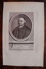 ABEL LOUIS DE STE MARTHE . PORTRAIT, GRAVURE ORIGINALE , 1760