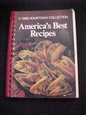 Vintage Antique 1989 Americas Best Recipe Hometown Collection Cookbook Community