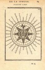 NAVIGATION. Mariner's compass. Cardinal & intercardinal points. MALLET 1683