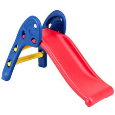 2 Step Children Folding Slide Plastic Fun Toy Up-down For Kids Indoor & Outdoor