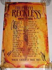 TAYLOR MOMSEN & THE PRETTY RECKLESS SIGNED AUTOGRAPHED 11x17 TOUR POSTER RARE