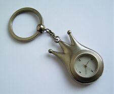 Ancien porte clé montre métal forme couronne (Pigmy?) Années 60/70