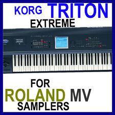 KORG TRITON EXTREME SAMPLES ROLAND MV8800 MV8000 MV 8800 MV 8000 12 DVD'S 45GB
