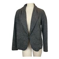 Cabi Cardigan Sweater Jacket Shawl Collar gray size medium Women's cotton blend