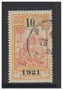 Oceanic Settlements - 1921, 10 on 45c (Surch) stamp - G/U - SG 44
