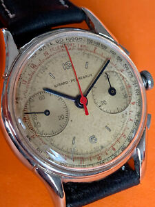 VINT GIRARD PERREGAUX CHRONOGRAPH Valjoux 23 NEVER RESTORED DIAL  ca 47