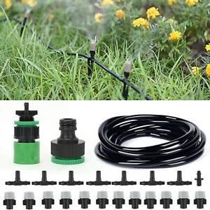 15M Wassernebel Kühlsystem Sprinkler Sprühdüse Gartenterrasse Bewässerungs set