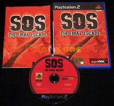 SOS THE FINAL ESCAPE Ps2 Versione Inglese  1ª Edizione ••••• COMPLETO