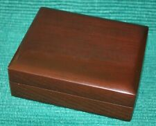 Vintage Lacquered Wood Jewelry Box w/ Piano Hinged Back  FREESHIP