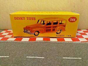Dinky Toys 344  Estate Car EMPTY  Repro box    NO CAR