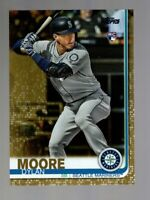 2019 TOPPS UPDATE DYLAN MOORE RC GOLD #/2019 US206 MARINERS