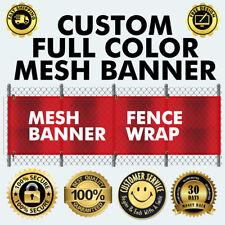 3' x 6' Full Color Custom Mesh Banner with Grommets and hem FREE DESIGN