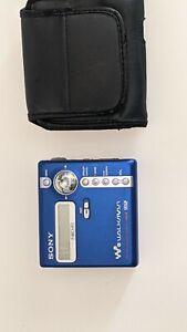 Sony MZ-N707 Portable Minidisc Player Recorder Net MD Type-R MDLP Blue Works