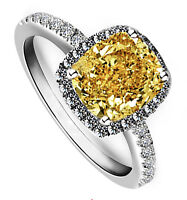 18k White Gold Filled Silver Base Wedding Bridal Engagement Ring Topaz Ring R87