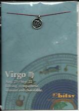 ZODIAC VIRGO 18kt GOLD DIPPED STERLING SILVER PLATED CHARM
