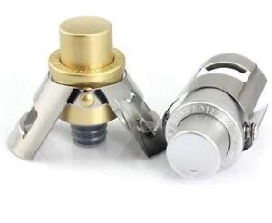 Champagne Stopper Sparkling Wine Saver Built In Pressure Pump Gold/Silver