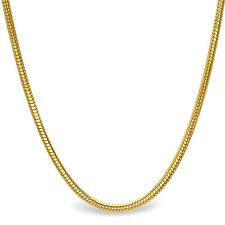 Classic Round Snake 14k Gold Necklace - 18 in. - SKU #63547