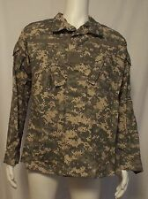 NWT US Army Combat Uniform ACU Digital Camo Ripstop Jacket Shirt Meduim Long LB1