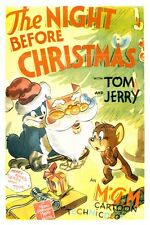 "TOM AND JERRY THE NIGHT BEFORE CHRISTMAS - CARTOON POSTER 12"" x 18"""