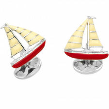 Deakin & Francis Sailboat Yacht Cufflinks Boat Sterling Silver Made in England